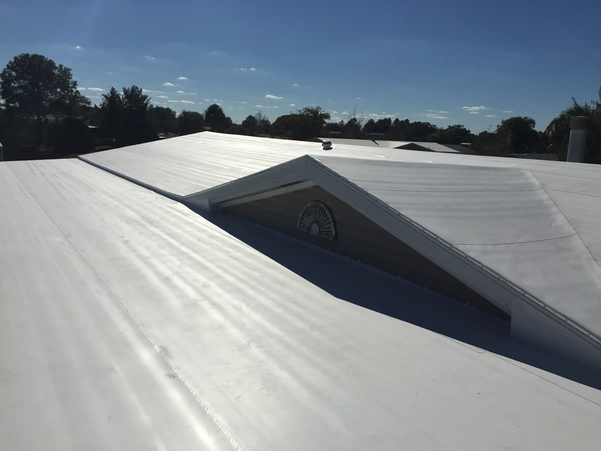 Mobile home TPO roof over in Florida